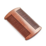 YUNAI Wooden Beard Comb Hair Comb Anti-Static and Hypoallergenic Red Sandalwood