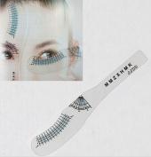WellieSTR 10PCS Eyelash Extension Styling Ruler Measuring Ruler Eyelash Curling Eyelash Symmetrical Positioning Eyebrow Beauty Tools
