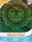 Twisted Tribal - Temporary Tattoos - 30 Tattoos By Savvi