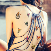 TAFLY Colourful Butterfly Fake Temporary Transfer Tattoos Body Stickers 5 Sheets