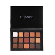 UCANBE 15 Colours Eye Shadow Makeup Palette Matte Natural Fashion Eyeshadow Pigment Cosmetics Make Up Set