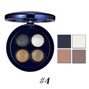 Women Waterproof Makeup Glitter Eyeshadow Collection Palette with 4pcs Brush 4 colours by Face Forever