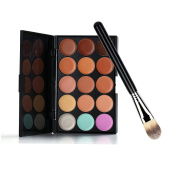 Andercala 15 Colours Eyebrow Powder Palette Cosmetics Eye Shadow Makeup Set with Brush