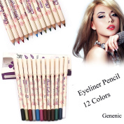 12 Colours Eye Make Up Eyeliner Pencil Waterproof Eyebrow Beauty Pen Eye Liner Cosmetics Eyes Makeup