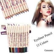 12 Colours Eye Make Up Eyeliner Pencil Waterproof Eyebrow Beauty Pen Eye Liner Cosmetics Eyes Makeup