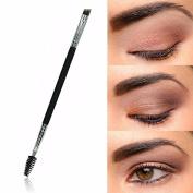Makeup Brush,Baomabao 1PCS Makeup Bamboo Handle Double Eyebrow Brush + Eyebrow Comb