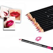 12Pcs/colours Qibest Waterproof Lip Liner Pencil Long Lasting Lipliner Makeup Tools