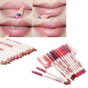 12pcs/lot 15CM 12Colors/Set Maquiagem Waterproof Lip Liner Pencil Women's Professional Long Lasting Lipliner Lips Makeup Tools