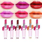 SHERUI Beauty 10PCS Matte Colour Lipstick Liquid Makeup Lip Gloss Pencil Waterproof