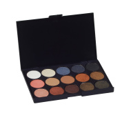 Giselle Warm EyeShadow Palette - 15 Highly Pigmented Nude Smokey Naked Warm Colours - Glitter and Matte Palette