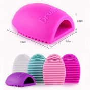SHERUI Silicone Cosmetic Makeup Brush Finger Glove Hand Cleaning Tools Brush Cleaner Tool Rose