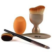 SHERUI Makeup Set Powder Foundation Eyeshadow Eyeliner Lip Cosmetic Brushes