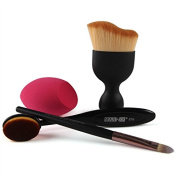 SHERUI Makeup Set Powder Foundation Eyeshadow Eyeliner Lip Cosmetic Brushes