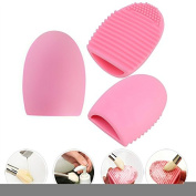 SHERUI Silicone Cosmetic Makeup Brush Finger Glove Hand Cleaning Tools Brush Cleaner Tool Pink