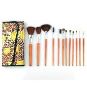 SHERUI 12 Pcs Pro Makeup Set Powder Foundation Eyeshadow Eyeliner Lip Cosmetic Brushes
