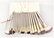 BeautyKate 24Pcs Professional Makeup Brushes Set Cosmetic Kabuki Powder Eyeshadow Lip Face Brush Kit With Leather Travel Pouch Bag Case
