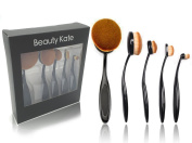 BeautyKate 5 Pcs Oval Makeup Brush Set Professional Foundation Contour Concealer Blending Cosmetic Brushes