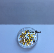 YELLOW Tiny Rounded Nail Art Gems faux Mini Rhinestone Jewel Micro Stones DIY Nails