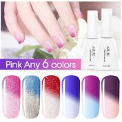 Azure Beauty Soak-off Chameleon Nail Polish UV LED Gel Pick Any 6 Colours 12ML Nail Art Gift Set