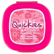 Quickies Nail Varnish Large Remover Pads 20 per pack