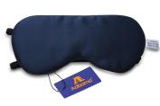 Adbama® 100% Natural Mulberry Silk Filled Sleep Mask with 2 Adjustable Straps, Super Smooth & Soft Sleeping Eye Masks for Travelling, Flight, Nap or Yoga