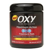 OXY Maximum Action Rapid Treatment 3-In-1 Treatment Pads, 90 ea - 2pc