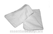 essentialbeautycare Pair Of Terry Towelling Wash Mitts White