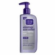 Clean & Clear Advantage Acne Control 3-in-1 Foaming Wash, 240ml - 2pc