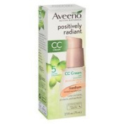 Aveeno Active Naturals Positively Radiant CC Cream Tinted Moisturiser, Medium - 2pc