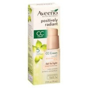Aveeno Active Naturals Positively Radiant Tinted Moisturiser, Fair to Light Sheer Tint, 70ml - 2pc