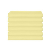 bkb Daycare 6 Piece Fitted Crib and Toddler Sheets, Yellow