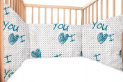 Baby I Love You / SoulBedroom Cotton Cot Bumper Pad Half