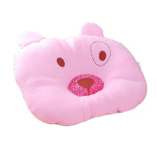 Pink Cartoon Pattern Design Baby Positioner Pillow for sleeping , Prevent Flat Head Super Comfortable and cotton & Hypoallergenic Newborn Protective Sleep Pillow