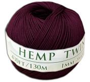 130m of 1mm 100% Hemp Twine Bead Cord in Bourbon Red