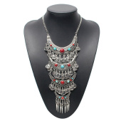 Lanue Fashion Vintage Long Multi Layer Coin Statement & Pendants Necklace Bohemian Turkish Jewellery