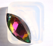 Clear silicone crystal pendants,earrings Moulds, pendant size 47mmX22mm. Handmade item.