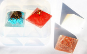 Clear silicone Pyramid jewellery ,art,craft Moulds, Diameter 25mm. Handmade item.