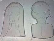 Flexible Resin Mould Gomez & Morticia The Creepy Couple