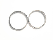 "Inton 50 Pcs - 38mm 1.5"" Round Edged Split Key Chain Ring Connector Keychain Keyring"