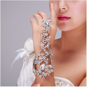Casualfashion Luxury Bridal Wedding Dress Accessories Rhinestone Chain Bracelet Bridemaid Hand Accessories Bracelets Bangles Jewellery