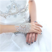 Casualfashion Stylish Crystal Rhinestone Bracelet Bangle Bling Wristband Women Wedding Bridal Bracelets Jewellery