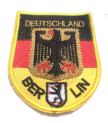 DEUTSCHLAND BERLIN 3X3.5 IRON ON PATCH