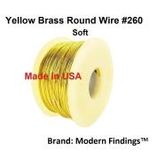 12 Ga Round Soft Yellow Brass Wire