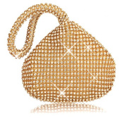 SHANGTOP Women's Evening Clutch Handbag Triangle Full Rhinestones Purse for Party Prom Wedding