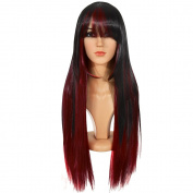 Ecvtop Fashion Style 70cm Anime Costume Hair Wigs Long Straight Cosplay Wig