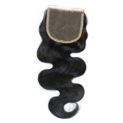 Miss Kiss Hair Brazilian Free Part 4x 4 Swiss Lace Closure with Baby Hair Body Wave Unprocessed Human Hair Unprocessed Virgin Hair Natural Colour Remy Hair