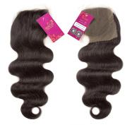 Shacos Brazilian Virgin Human Hair Closure Body Wave Natural Black Hairpieces Free Part Lace Closure