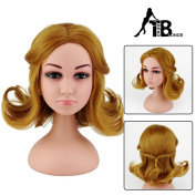 Trend Blonde short curly wigs brown girl with little braid for party Style 5686