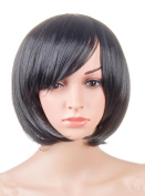 LOUISE MAELYS Straight Short Wig Bob Hair Cosplay Wig Anime Costumes + Wig Cap