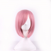 MOCOO High Quality Short Spiky Heat Resistant Hair Wigs Fashion Men's Cosplay /Party Costume Wigs (Pink) JF003PK